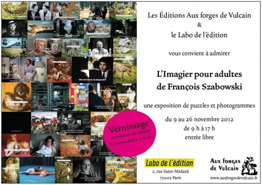 François Szabowski s'expose au Labo de l'édition
