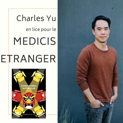 Charles Yu en lice pour le MEDICIS ETRANGER